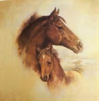 Mare and Foal wall print